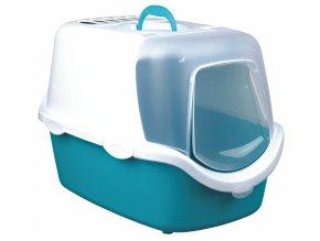 WC VICO kryté s dvířky a filtrem, EASY CLEAN 56x40x40cm - tyrkysovo/bílé