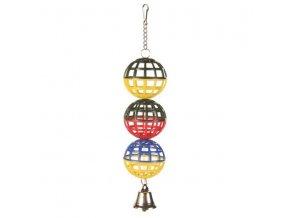 Tři koule se zvonečkem 16cm