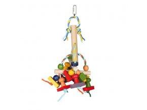 Natural Living - barevná dřevěná závěsná hračka 31 cm