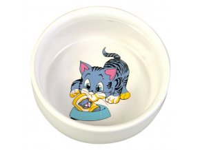 Keramická miska malovaná motiv kočka 300ml/11cm
