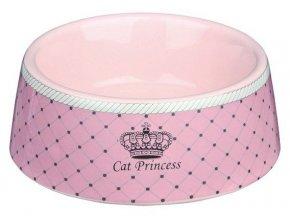 CAT PRINCESS keramická miska růžová 0,18 l/12 cm