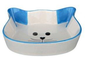 Keramická miska tvar kočičí hlava 0,25 l/12 cm - modrá
