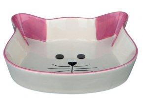 Keramická miska tvar kočičí hlava 0,25 l/12 cm - fialová
