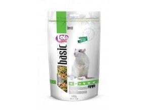 LOLO BASIC kompletní krmivo pro potkány 600g