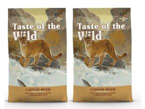 TASTE OF THE WILD Canyon River Feline 2 x 7 kg