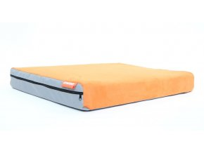 Matrace Aminela - 80x60x10cm Half and Half (šedá/oranžová)