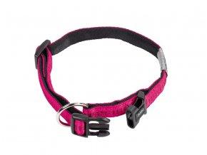 Obojek nylon soft Grip - tmavě růžový Nobby 1,5 x 25-35cm