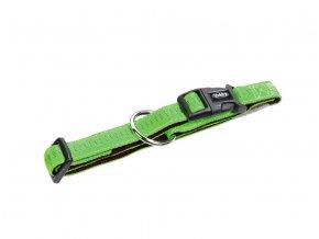 Obojek nylon soft Grip - světle zelený Nobby 2,5 x 50-65cm