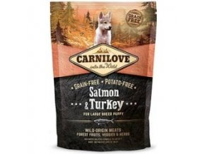 CARNILOVE Dog Salmon & Turkey for LB Puppies 1,5 kg