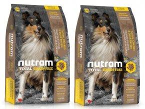 NUTRAM Total Grain Free Turkey Chicken Duck Dog 2 x 11,34 kg