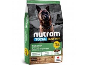 nutram total grain free lamb legumes dog bezobilne krmivo jehneci a lusteniny pro psy