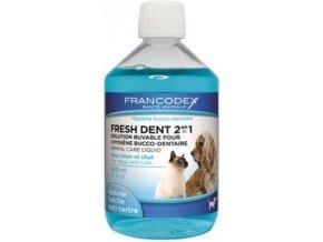 FRANCODEX Fresh Dent ústní voda pro kočky a psy 500ml