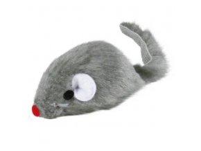 Myška malá šedá chrastící 5cm