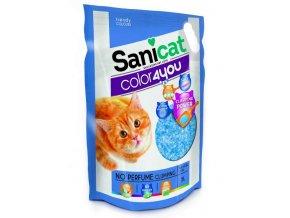 SANICAT COLOR4YOU modrý hrudkující silica gel 5L