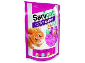 SANICAT COLOR4YOU růžový hrudkující silica gel 5L