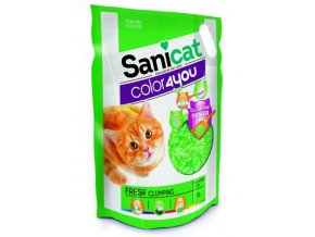 SANICAT COLOR4YOU zelený hrudkující silica gel 5L