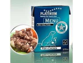 Platinum Natural Menu Ryby + Kuře 375g