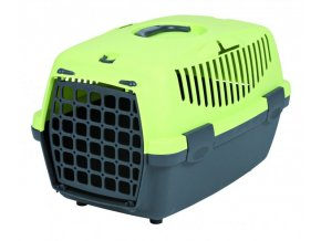 Transportní box CAPRI II 37X34X55cm max.do 8kg - tmavě šedá/světle zelená
