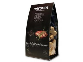 NATUREA GF sušenky - kachna a ostružiny 230g