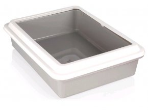 WC Katja otevřené s okrajem 43,5 x 34 x 11 cm šedá