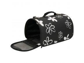 Taška cestovní Flower S černá 21x36x24cm Zolux