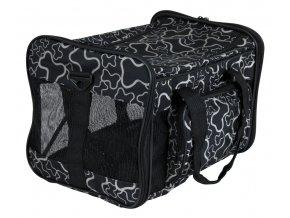 Taška cestovní nylon 42x27x26cm černá a kostičky TR