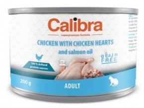 Calibra Cat konz.Adult kuře a kuřecí srdíčka 200g