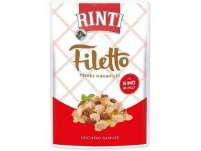RINTI Filetto Kuře & hovězí v želé 125g