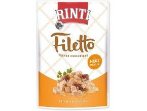RINTI Filetto kuře & srdce v želé 100g
