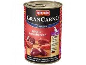 Animonda Grancarno Senior hovězí + krůtí srdce 400g