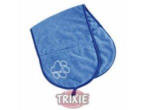 Vysoušecí šál s kapsami 93x28cm - modrý