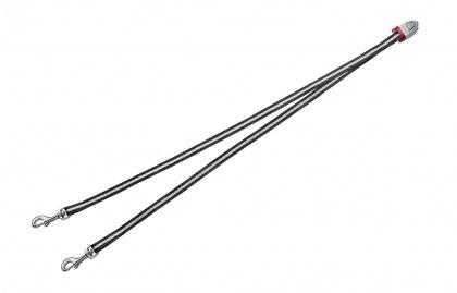 FLEXI Vario DUO Belt S - nylonová rozdvojka pro dva psy - antracit