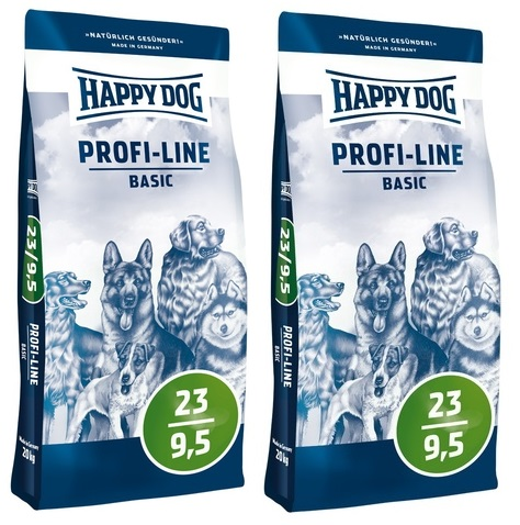 HAPPY DOG Profi-Line Basic 23/9,5 2 x 20 kg