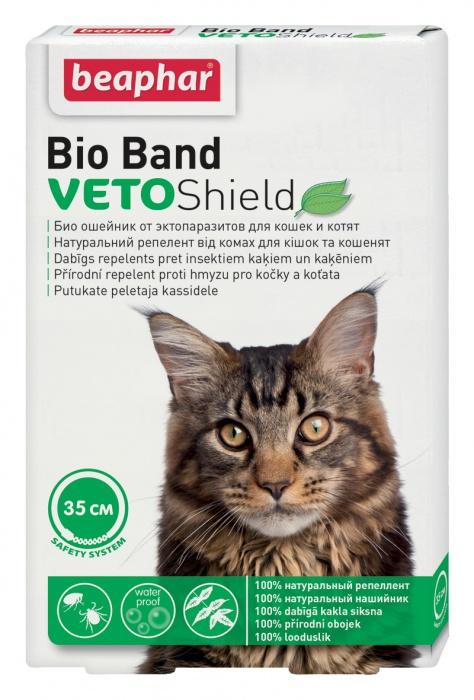 BEAPHAR obojek antiparazitní Bio Band kočka 35cm