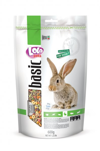 LOLO BASIC kompletní krmivo pro králíky 600g