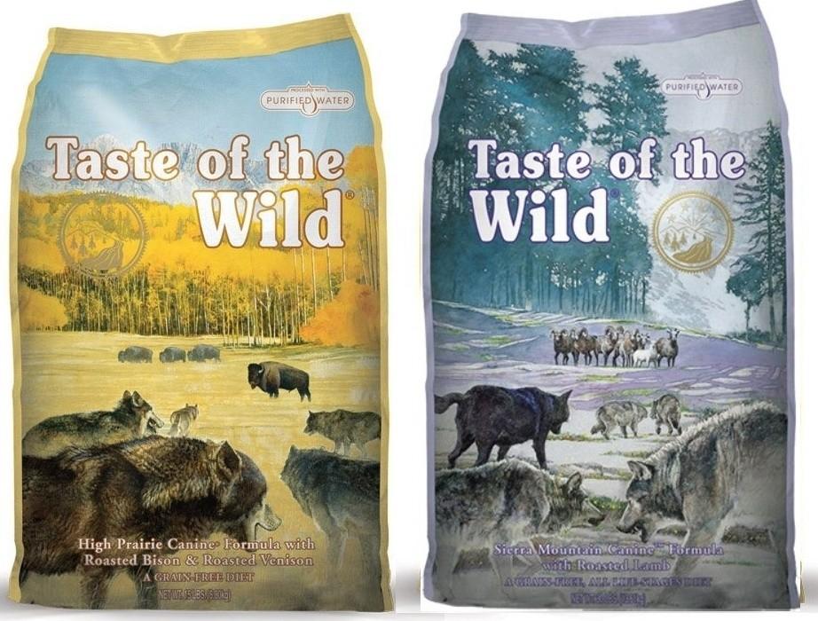 TASTE OF THE WILD High Praire Canine 13 kg + TASTE OF THE WILD Sierra Mountain Canine 13 kg