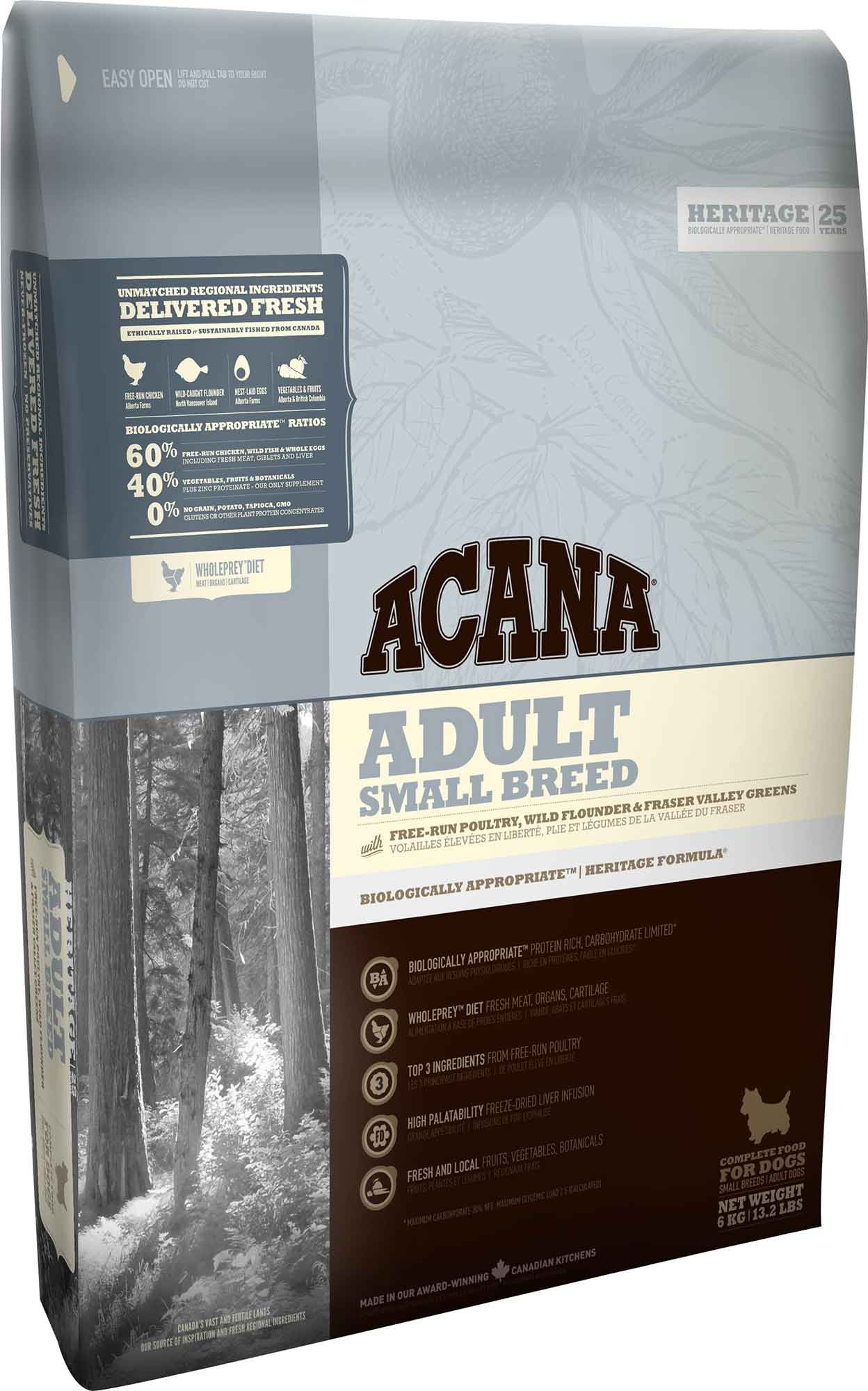 ACANA Heritage Dog Adult Small Breed 6 kg