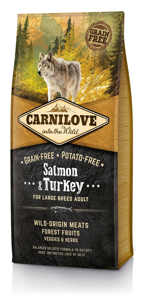 CARNILOVE Dog Salmon & Turkey for LB Adult 12 kg