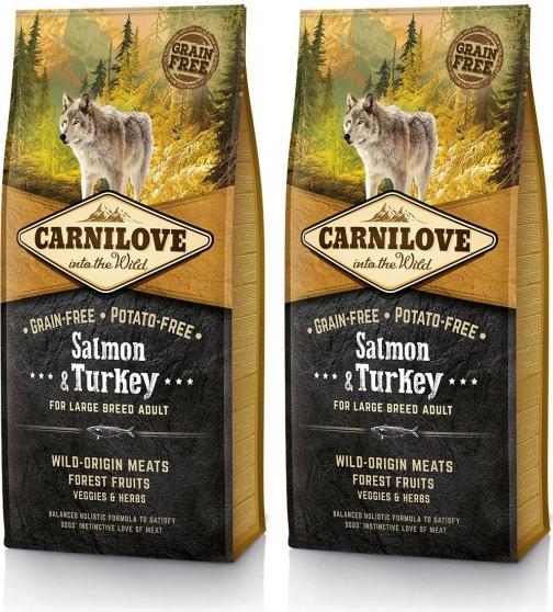 CARNILOVE Dog Salmon & Turkey for LB Adult 2 x 12 kg