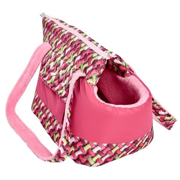 """Transportní Taška textil """"Belinda LUX"""" 3D ratan malina 40cm"""