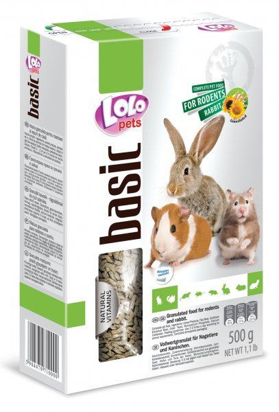 LOLO BASIC granulované krmivo pro hlodavce 500 g