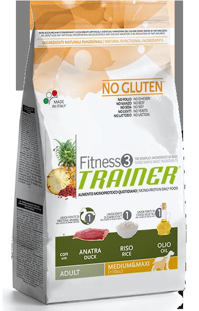 TRAINER FITNESS Adult M/M No Gluten Duck Rice 3 kg