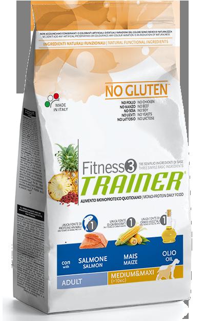 TRAINER FITNESS Adult M/M No Gluten Salmon Maize 3 kg