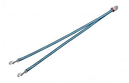 FLEXI Vario DUO Belt S - nylonová rozdvojka pro dva psy - modrá