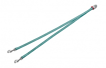 FLEXI Vario DUO Belt S - nylonová rozdvojka pro dva psy - tyrkysová