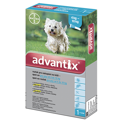 ADVANTIX Spot On 1x1ml pro psy 4-10 kg