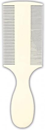 Hřeben plastový velmi jemný na blechy a prach 14 cm