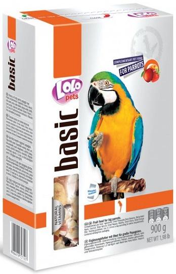 LOLO BASIC kompletní ovocné krmivo pro velké papoušky 900g