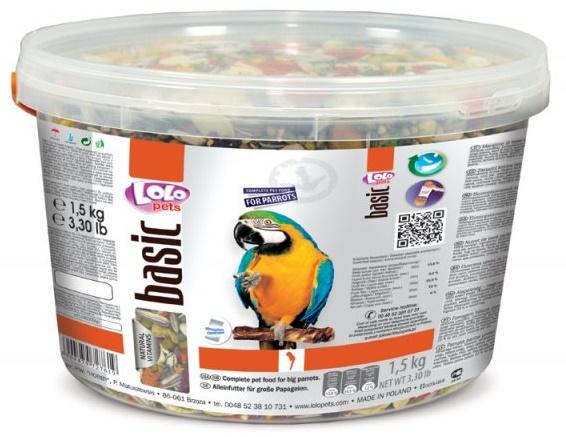 LOLO BASIC krmivo pro velké papoušky 3L/1,5kg