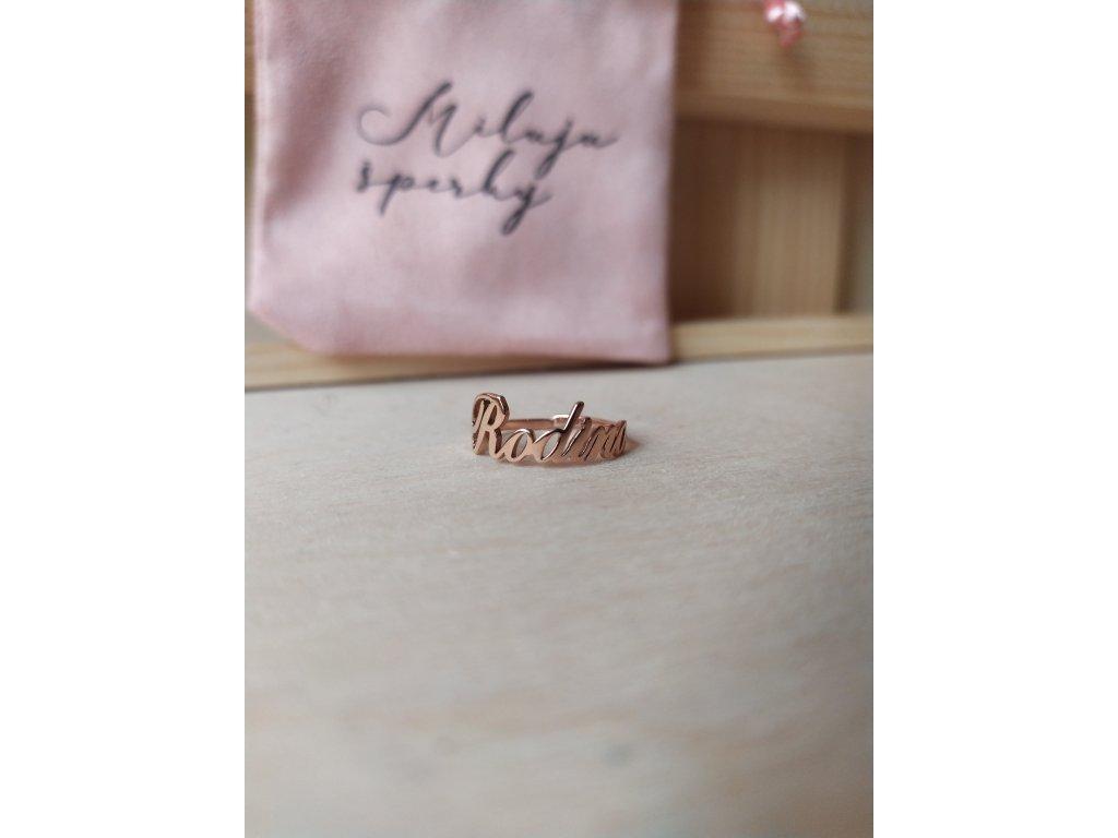 Prsten - rose gold